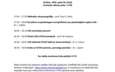 Latvijas Ultrasonogrāfistu Asociācijas tiešsaistes 37. (28.) konference ar vieslektora radiologa prof. Paul S. Sidhu (Lielbritānija) piedalīšanos.